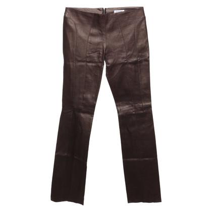 Jitrois Pantalon en cuir en bronze