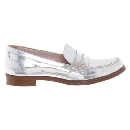 Miu Miu Slipper in silver / white