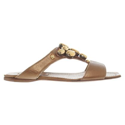 Miu Miu Bronze sandals
