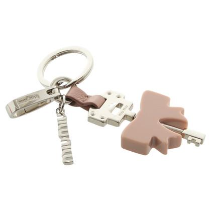 Miu Miu Key rings in Nude / silver