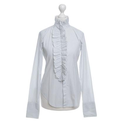 Ralph Lauren Blau/Weiß gestreifte Bluse
