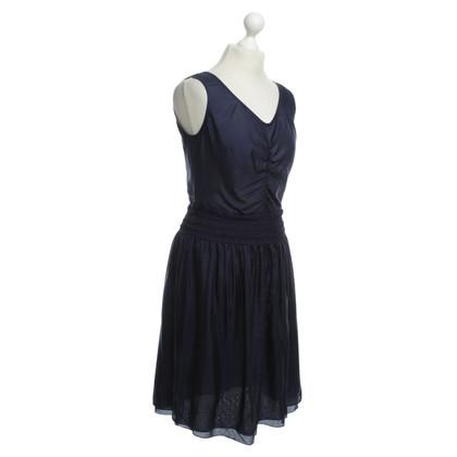 Strenesse zijden jurk in blauw