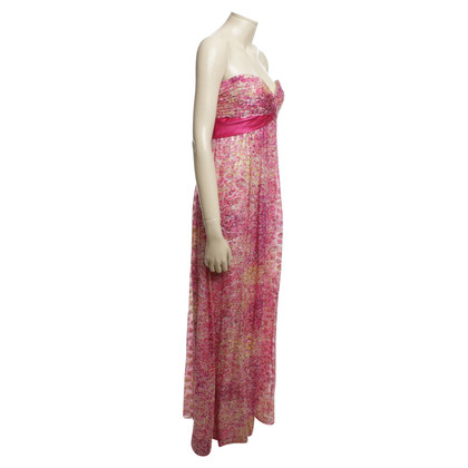 BCBG Max Azria Maxi dress with shiny floral pattern