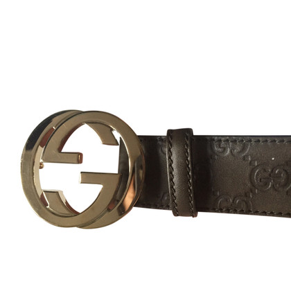 Gucci Green Leather Belt