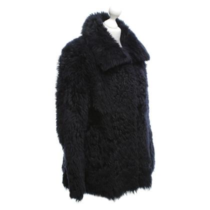 Patrizia Pepe Lambskin jacket in dark blue