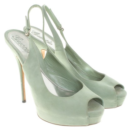Gucci Peeptoes in mint green