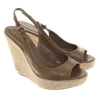 Sergio Rossi Wedges in Khaki