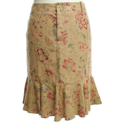 Ralph Lauren Linen skirt with flower pattern