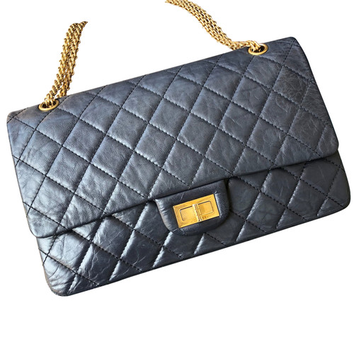 Chanel 2 55 Reissue Double Flap Bag 227 Second Hand Chanel 2 55