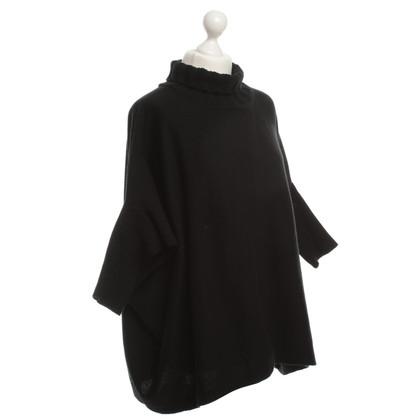 Diane von Furstenberg Gebreide Poncho in zwart