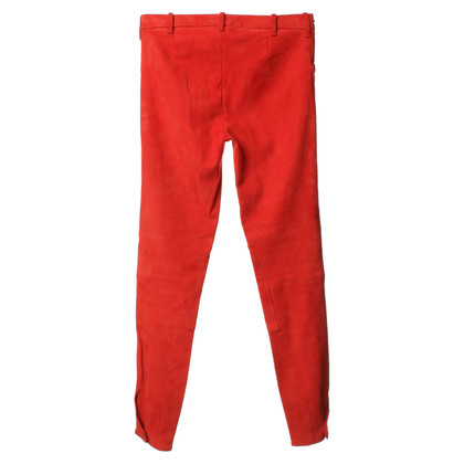 Ralph Lauren Suede pants in red