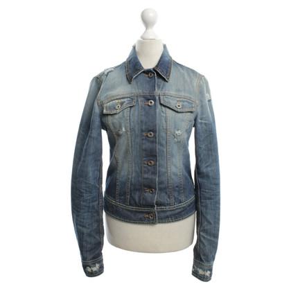 Dondup Veste en jean en bleu