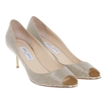 Jimmy Choo Peeptoes in goud
