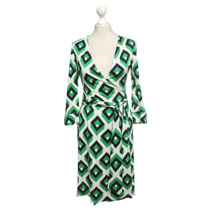 Diane von Furstenberg Wrap dress with pattern