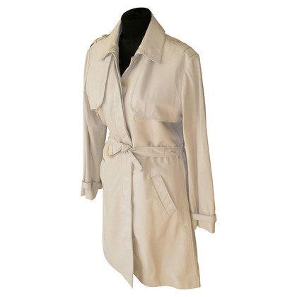 Malo Runway leather coat trench coat style