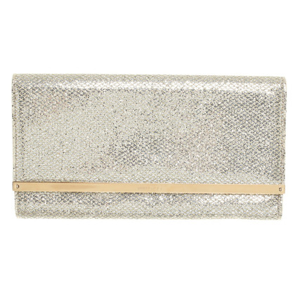 Jimmy Choo Gold / Silver colored clutch