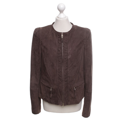Luisa Cerano Leather jacket in dark brown