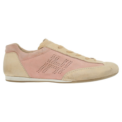 Hogan Sneakers in Beige/Rosa