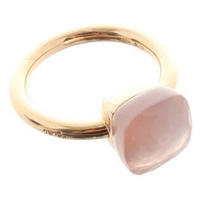 Pomellato Anello con pietra quarzo rosa