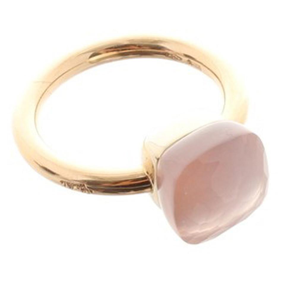 Pomellato Ring with rose quartz stone