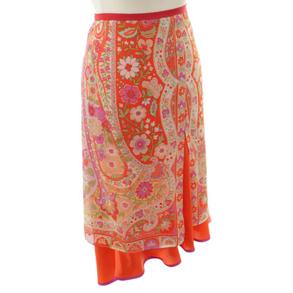 Etro Silk skirt with floral print