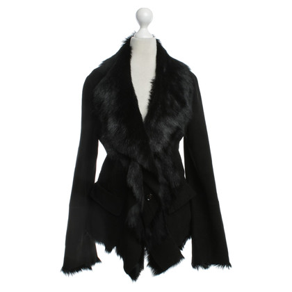 Marc Cain Jacket made of leather / fur