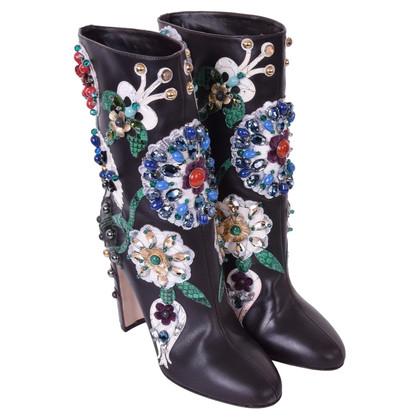 Dolce & Gabbana Stiefeletten mit Stickerei