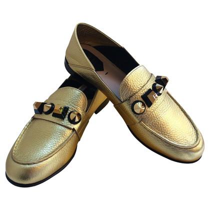 Fendi Golden loafers