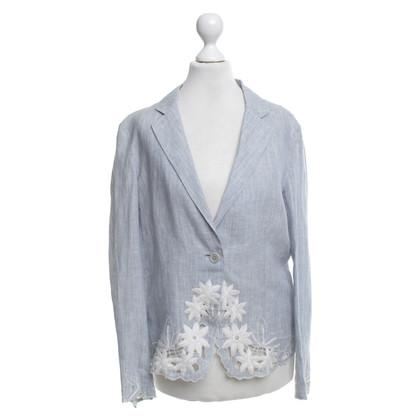 DKNY Lino Blazer Azzurro / Bianco