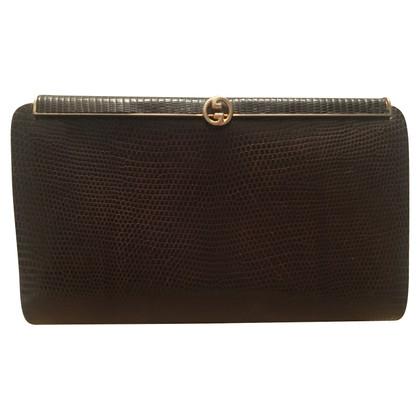 Gucci Lizard leather clutch