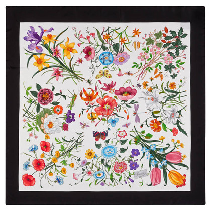 Gucci Silk scarf with floral motif
