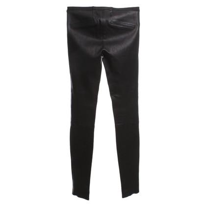 Helmut Lang pantalon en cuir noir