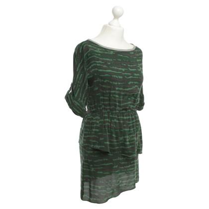 Alice + Olivia Groene patroon jurk