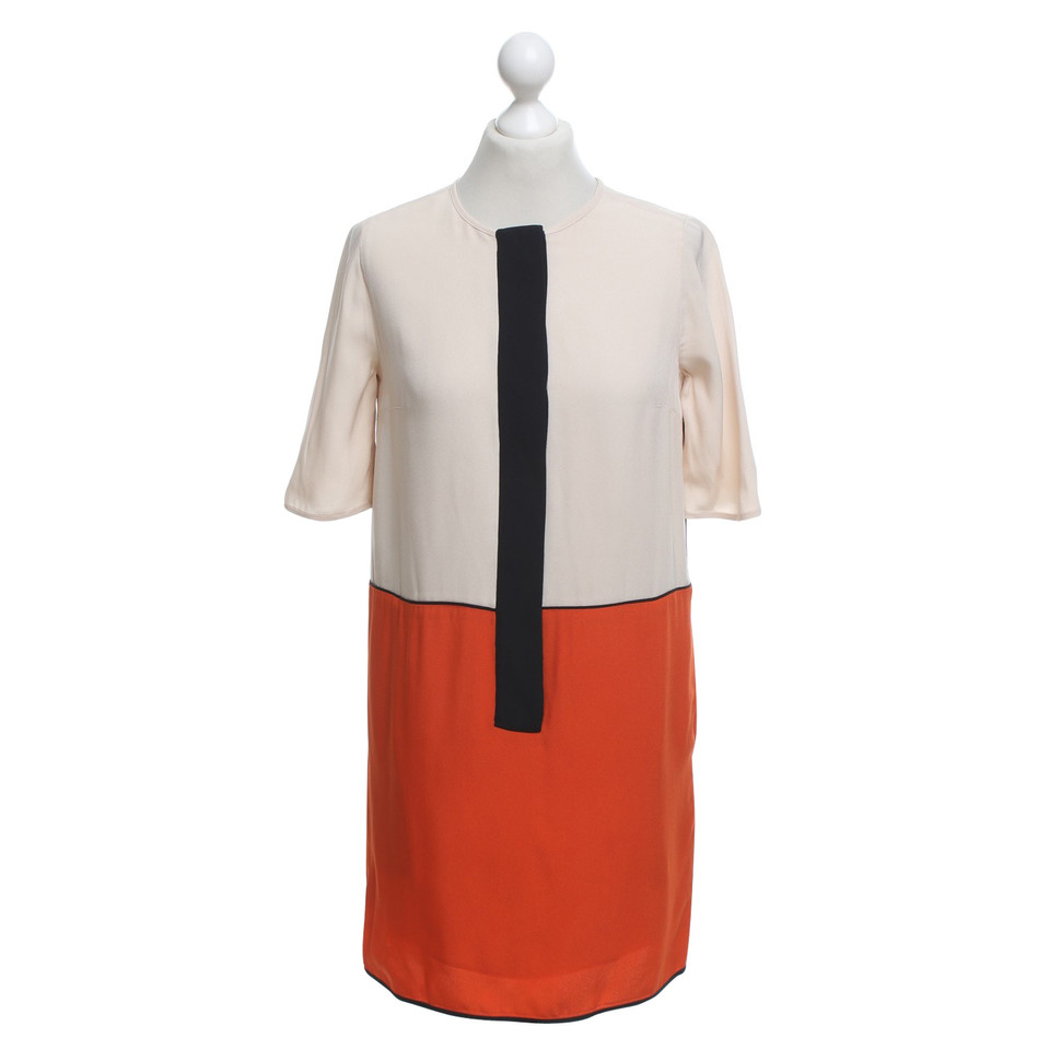 Victoria Beckham Sheath dress with color blocking