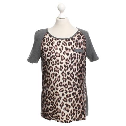Set Top met luipaardpatroon