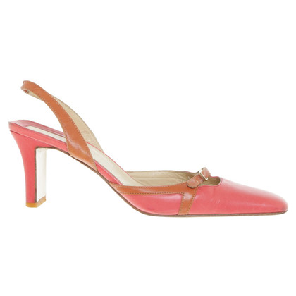 Gianni Versace Slingbacks in Coral Red