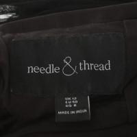 Needle & Thread Abito da sera con ricami floreali
