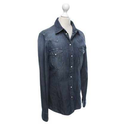 7 For All Mankind Jeans blouse in blue
