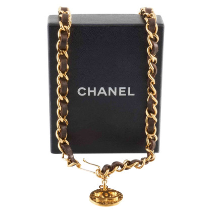 Chanel Kettengürtel mit Lederband