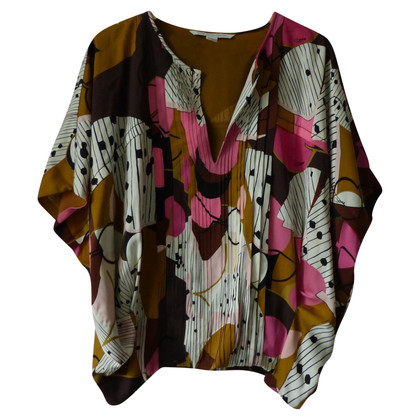 Diane von Furstenberg patterned silk top