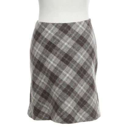 Hobbs Wool skirt with check pattern