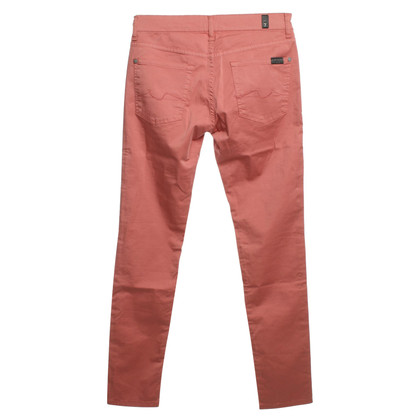 7 For All Mankind Pantaloni in rosso corallo