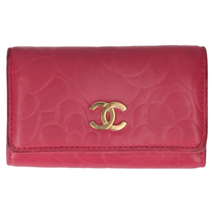 Chanel Key Holder Camelia Leder