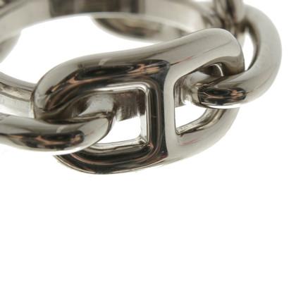 Hermès Zilverkleurige handdoek ring