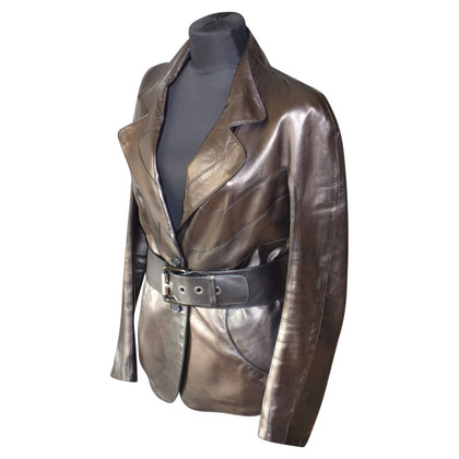 Jitrois Leather Blazer Taillengürtel