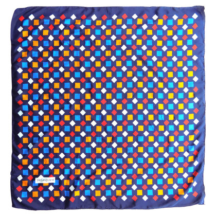 Yves Saint Laurent Silk scarf with geometric print
