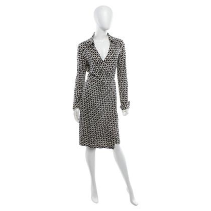 Diane von Furstenberg Wrap dress in black / white