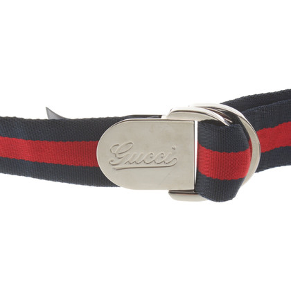 Gucci Belt in blue / red