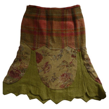 Etro I will wear long skirt plaid check floral