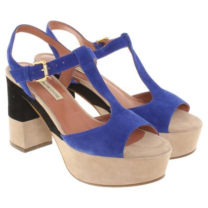 L'autre Chose Sandaletten in Blau/Beige/Schwarz